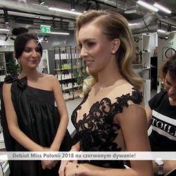 Dzień Dobry TVN i fryzura na pierwsze medialne wyjście Miss Polonii 2018.